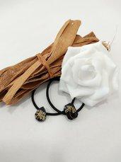 Elastici per capelli elastici donna elastici fatti a mano elastico fiori veri