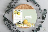 Partecipazioni Nozze - Mod. Citrus - Agrumi - Limoni -  Giallo - Pocketfold