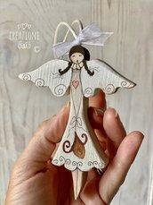 Mini angioletti in legno massello by Creazioni GiaRóⒸ
