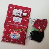 Pochette porta gel e mascherina da borsa