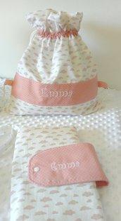 Set nascita  personalizzato per femminuccia e maschietto.