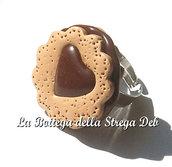 Anello biscotto ripieno cioccolato