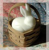Coniglietto Pasqua in cestino