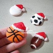 Calamita palla pallone basket calcio rugby pallavolo fimo