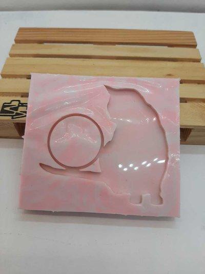 Stampo in gomma siliconica con gatto