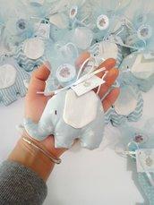 Confettata nascita elefantini in stoffa .
