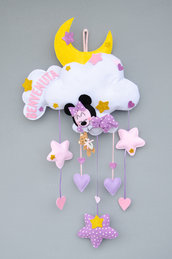 Fiocco nascita Minnie dolce ninna,  63 x 33 cm