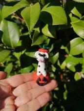 Decorazione per Halloween cane dalmata nella zucca, miniatura cane dalmata per regalo per amante dei cani, scultura cane dalmata