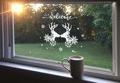 Adesivo natalizio renne welcome