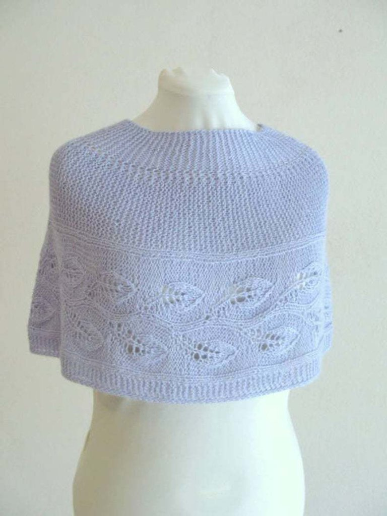 Schema PDF - Copri spalle - mantellina  - scialle in lana -  collo a maglia