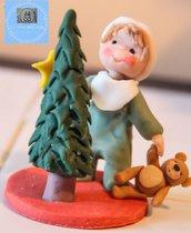 Bambolina Magia del Natale in porcellana fredda