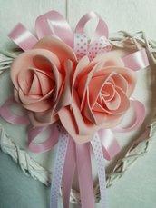 Decorazione interni fuori porta misshobby dony bomboniere regalo rose composizione