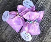 Bomboniera Completa religiosa con piccola croce e perle colorate