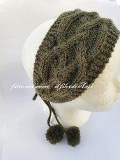 Fascia capelli per ragazza / donna in pura lana 100%