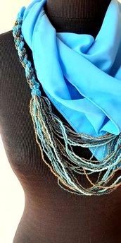 Foulard gioiello azzurro