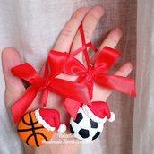 Addobbi natalizi- segnaposto basket calcio rugby pallavolo regalo