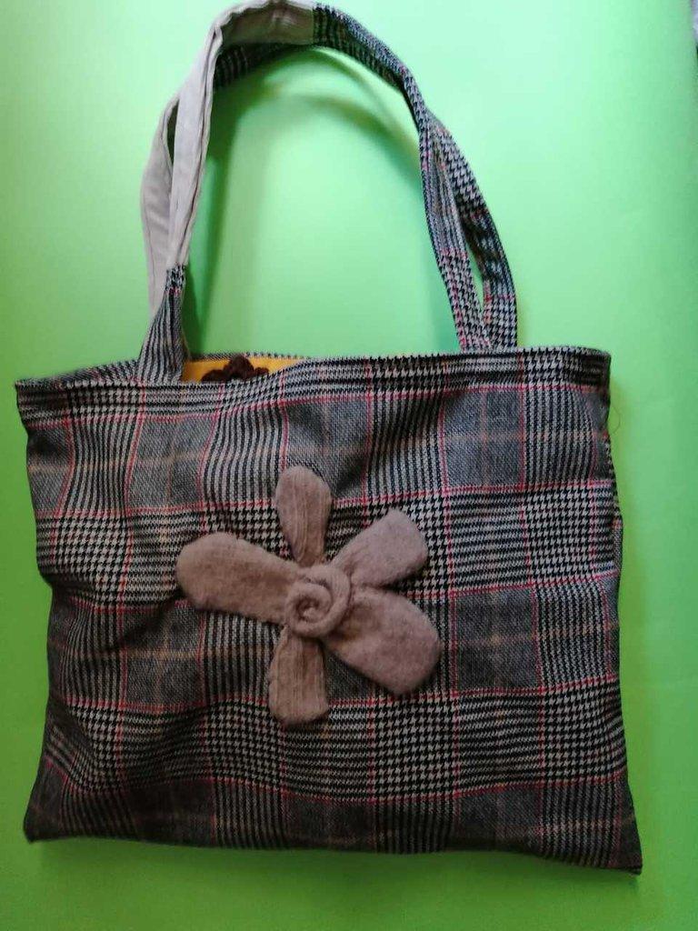 Bag fior d'ottobre, shopper fatta a mano