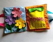 Valigetta didattica delle forme e dei colori, gioco tattile, gioco per bambini di 2 anni, gioco Montessori, quiet book, gioco da viaggio