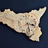 orologio in legno d'ulivo (cod. 16)