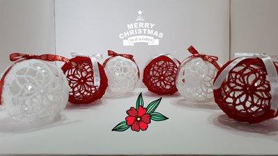 Palla  di  Natale all'uncinetto