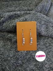 Orecchini spilla con perline