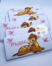 Tavoletta di cioccolato tema Bambi