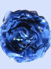 Fiore organza blu cina