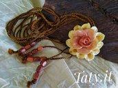 Collana scorrevole con rose e calle, lunga o a collarino