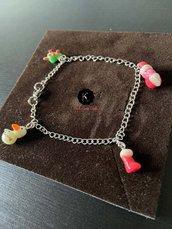 Idea regalo di natale, bracciale di natale, realizzato a mano, edizione limitata, unico al mondo!. Un gioiello per un buon natale