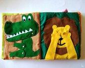 Quiet book animali • Libro sensoriale tattile per bambini con tanti animali