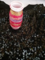 """Bottiglie colorate """"Portaoggetti"""""""