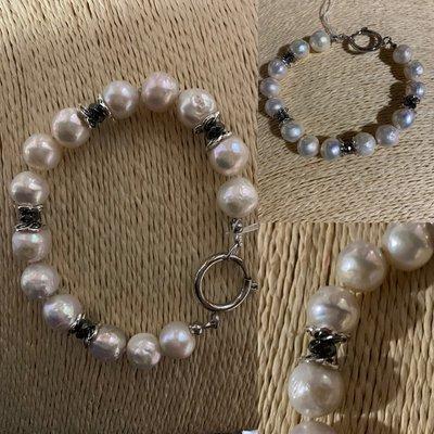 Bracciale di Perle Barocche e Acciaio