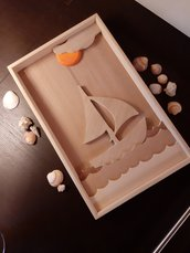 Quadro Marittimo con Barca