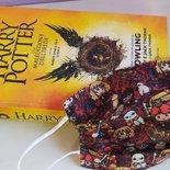mascherine lavabili in tessuto di cotone con tasca per filtro, mascherine ragazzi e adulti Harry Potter