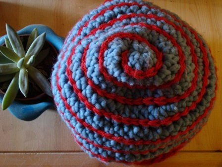 Blue and Red Spiral Hat