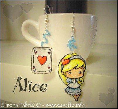 Orecchini Alice Nel Paese delle Meraviglie