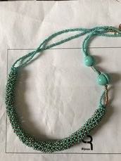 Collana girocollo turchese verde