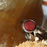 anello foglia rossa