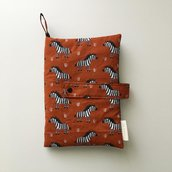Trousse porta pannolini zebre