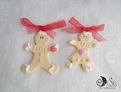 Addobbo albero di natale pan di zenzero, personalizzabile decorazioni natalizie