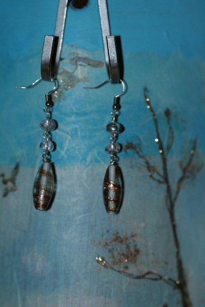 orecchini di vetro veneziano e cristallo