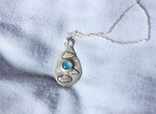 Collana in Argento 925 e Blue Chalcedony | Chrysalism
