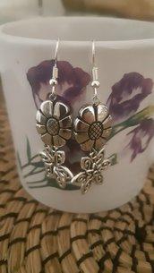Orecchini handmade pendenti Nickel Free con monachella