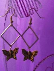 Orecchini farfalle oro