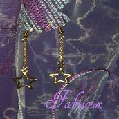 orecchini stelle oro