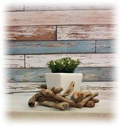 VASO in ceramica con legni di mare, regalo per natale