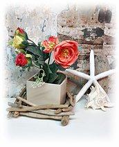 VASO in ceramica con legni di mare, regalo di natale