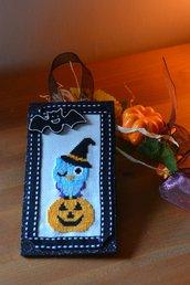 """Decorazione Halloween """"il gufo-strega"""""""