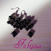 orecchini rombi e perle