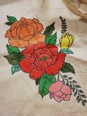 Shopper Bag con Rose